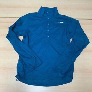 Patagonia Coat Womens Medium M Blue Windbreaker Jacket Buttoned