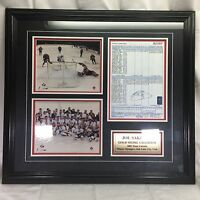 Joe Sakic Framed Game Sheet copy Gold Metal Winter Olympic Avalanche Team Canada