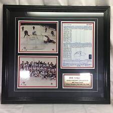 Joe Sakic Framed Game Sheet copy Gold Metal Winter Olympic Avalanche Team Canada