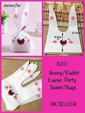 X20  Easter Rabbit Treat Bag  Presentation Party Bags Bunny Long Ears