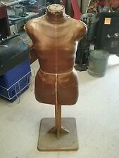 vintage women's dress form torso mannequins 1900/1930 with stand maybe a singer