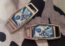Set Of 2 Tennessee Titans NFL Shoelace Charms For Paracord Projects