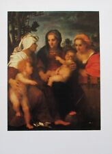 Andrea del Sarto : Madonna Kind hl. Katharina Elisabeth - Kunstblatt Repro print