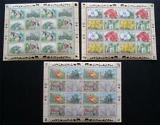 Un Mnh 1996 Endangered Species full sheets from all 3 offices