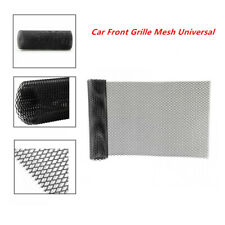 Front Grille Mesh Car Bumper Rhombic Sheet Metal Alloy Net Dissipate Heat Black