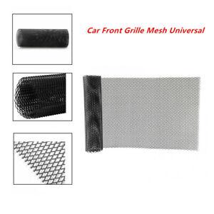 Front Grille Mesh Car Bumper Rhombic Sheet Metal Alloy Net Dissipate Heat Black