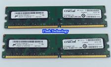 8GB Crucial DDR2 PC RAM PC2-5300 2 x 4GB ASROCK G31M-GS