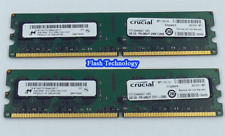 8Gb (2x 4GB) Crucial DDR2 CT51264AA667 Dimm 667mhz PC Memory Computer RAM