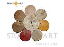 Orologio da parete fatto a mano 'Multicolor margherita' in pietra naturale
