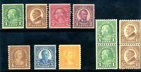 USAstamps Unused VF US 1923 Rotary Coils Scott 567-605 OG Mint 599a Used