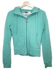 Aritzia TNA Full Zip Hoodie Cotton Sweater Greenish Blue Color Small