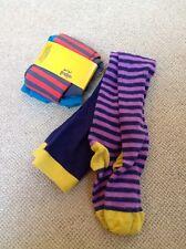 Boden Tights- 5-6y NEW-Red Stripe , Worn a few times-Purple Stripe