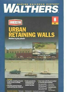 Walthers 933-3882-Urban Retaining Walls-N Scale Open Box,Kit still in sealed bag