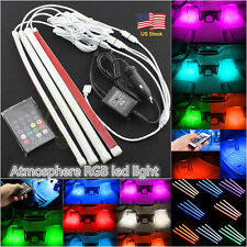 4 × 18LED Strips Remote Control Colorful RGB Car Interior Floor Atmosphere Light