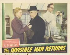 """THE INVISIBLE MAN RETURNS""-ORIGINAL LOBBY CARD-HORROR-UNIVERSAL-KELLAWAY-GREY"