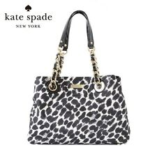 Authentic KATE SPADE MARYANNE OCELOT PRINTED CHAIN TOTE BAG PURSE $295 - RARE