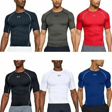 Mens Under Armour T Shirt Compression HeatGear Top Sports Gym