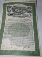 "The New York Central Railroad Company Series ""A"" $1000 Green Bond certificate"