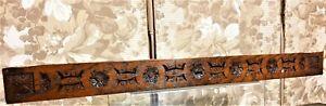 Rosette flower decorative carving pediment Antique french architectural salvage