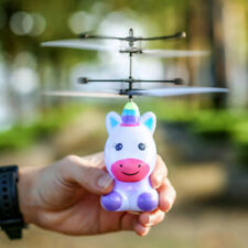 Perfk Rechargeable Mini LED Light Up Infrared Induction Drone Flying Toy
