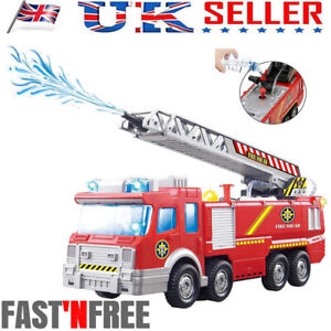 Electric Fire Truck Water Spray Music Fire Engine Car Toy Kids Educational Gift