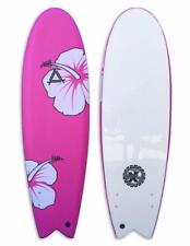 "Triple X Soft Top 5' 10"" Fishboard Surfboard/Pink Hibiscus/Kid's/New Pink"