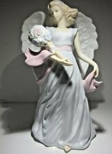 Large Porcelain Figurine Angel with A Banquet Of Flowers Resembles Lladro