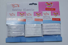 12 Metres Quality Flat Sewing Elastic - 5mm 8mm 12mm Wide Thin Craft Dressmaking