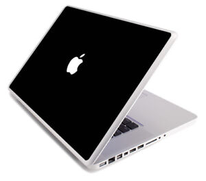 BLACK Vinyl Lid Skin Cover Decal fits Apple MacBook Pro 17 A1297 Laptop