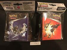 NEW Pokemon SUN & MOON Series 5-ULTRA PRISM Mini 60 Card album binder +  PACK