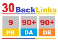 30 Pr9 DA 90+ High Authority Backlinks for website SEO ranking website top page