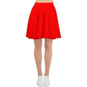 Cardinal Red Skater Skirt
