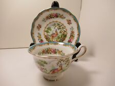 "ROYAL ALBERT ENGLISH CHINA  CUP&SAUCER BLUE ""CHELSEA BIRD""  EX COND!"