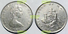 isle of man 5 pence 1975 Young Queen edtion castle  24mm cu-ni coin