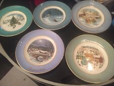 Country Christmas Collectible Plates 1976-1980. Made By Wedgewood For Avon.