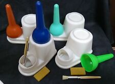 Glue Container Set ( Pot + Brush + Rubber) Leather Craft Tools #1