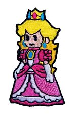 Princess Peach Patch Iron on Badge NEW Super Mario World All Stars Kart Costume