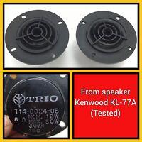 Kenwood TRIO T14-0024-05 Tweeters Horns Speakers - KL-777A - Japan