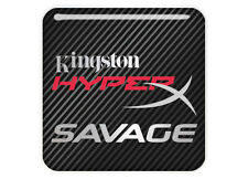 "Kingston HyperX Savage 1""x1"" Chrome Effect Domed Case Badge / Sticker Logo"