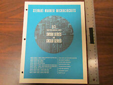 Stewart-Warner Microcircuits ECL SW300 SW350 Series Catalog 1968