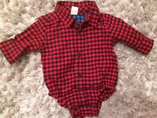 Baby Gap 0-3 Red Check Vest