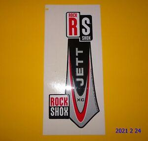 1 AUTHENTIC ROCKSHOX JETT XC FORK STICKER / DECAL / ROCK SHOX