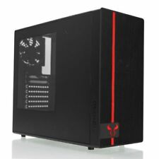 NEW! Riotoro CR488 Gaming Case With Window Atx No Psu 2 X 12Cm Fans Red Led Fron