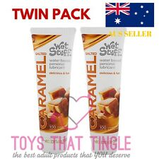 2 x Wet Stuff Salted Caramel Lube Lubricant Water Based Flavoured Lube TWIN PACK