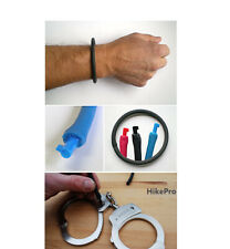 UNDERCOVER BRACELET w Non-Metallic Handcuff Micro Key Urban Evasion Escape BLUE