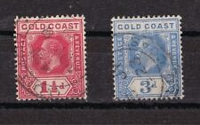GOLD COAST  Côte d'Or 1921-25 Georges V  2 timbres