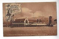 1911 Golden Potlatch, Grand Trunk Pacific Dock, Seattle, Washington