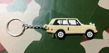 Landrover Range Rover Classic 3dr Collectors Key Ring - BEIGE