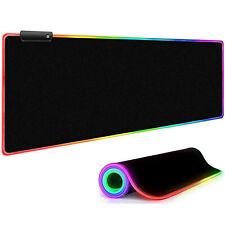 RGB Bunte LED Beleuchtung Gaming Matte Spiele XXL Mouse Pad für PC 80X30CM DHL
