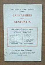 More details for lancashire v australia, 23/09/1959 - touring match programme.